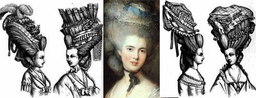 прически 18 век