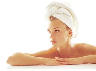 паровая баня для волос полотенце