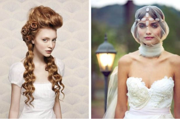 свадебные прически в стиле авангард