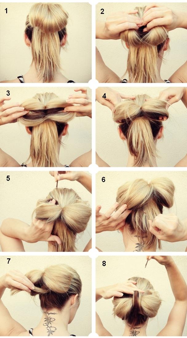бантик из волос для девочки