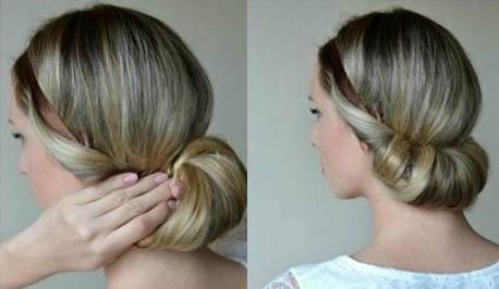 греческая прическа на средние волосы - 2