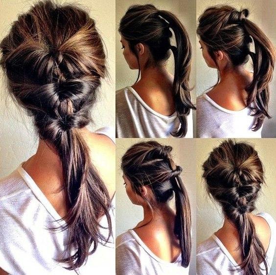 хвостик на длинные волосы