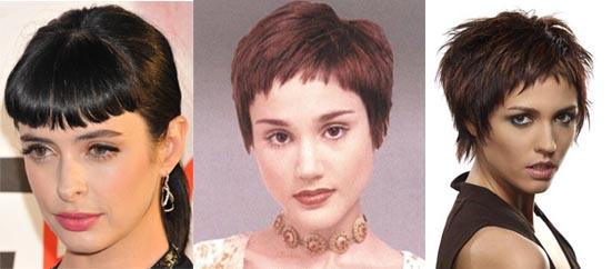 Причёски с короткой чёлкой