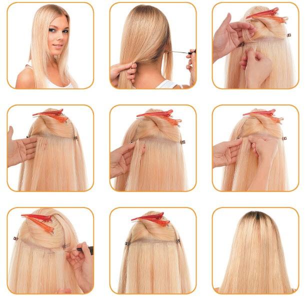 как сделать ленточное наращивание волос дома