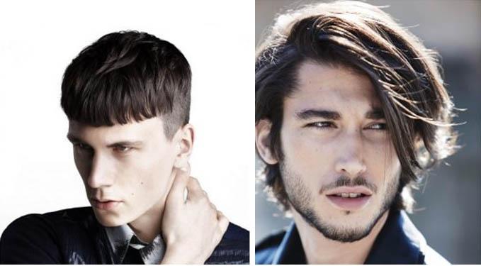 Стрижка на средние волосы мужские