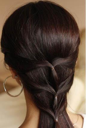 повседневная прическа с косой