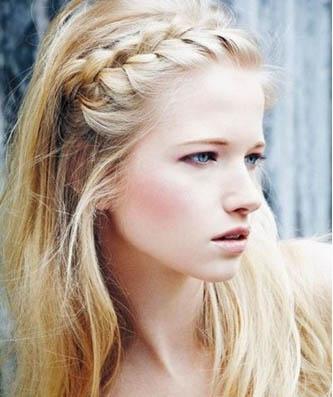 ободок из косы средние волосы