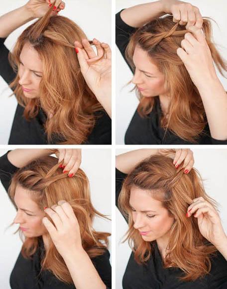 Прически на волосы чуть ниже плеч на каждый день9