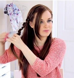 простая прическа на длинные волосы - 5