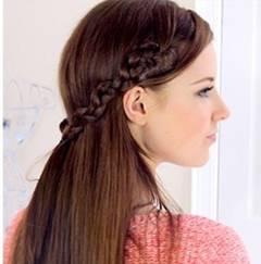 простая прическа на длинные волосы - 6