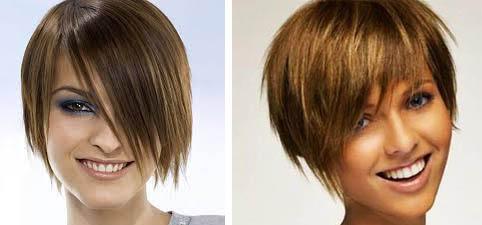 челка короткие волосы