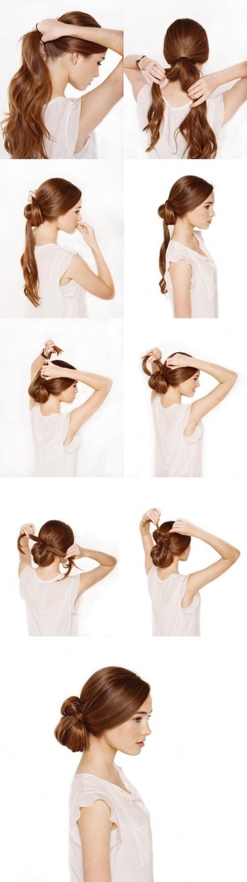 Как сделать прическу из узлов на волосах с помощью невидимки 57