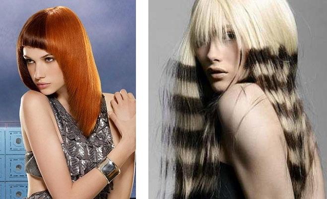частичное колорирование волос