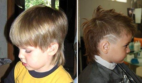 Как сделать стрижку для мальчика с хвостиком фото