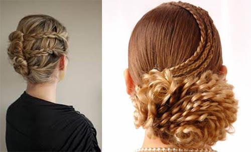 универсальная прическа с косами