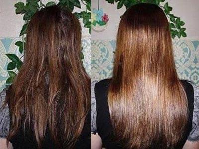 глазирование волос до после фото