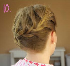 пошаговое плетение французской косы