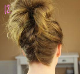 французская коса с гулькой 2