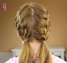 красивая французская коса
