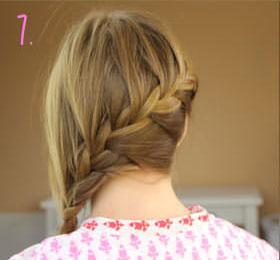 французская коса колосок