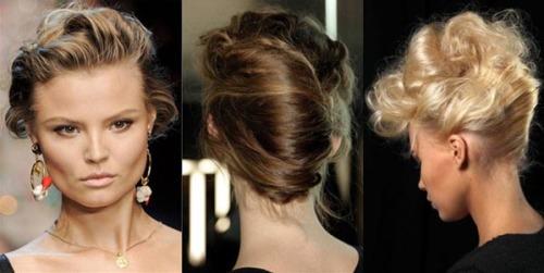 прическа ракушка на волнистые волосы