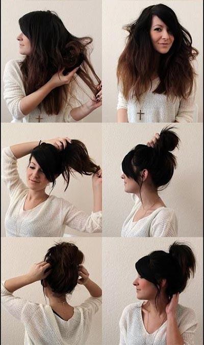 Как сделать пучок если волосы не густые