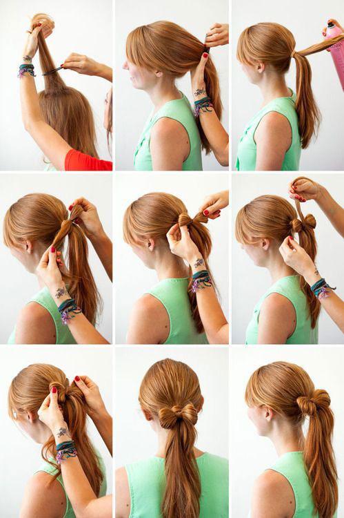 бант из волос пошаговая инструкция