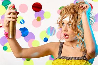 лак для волос с цветом