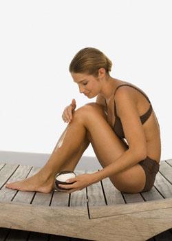 применение крема для удаления волос