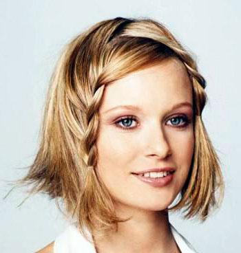 интересное плетение волос