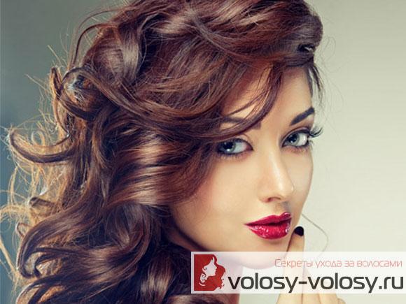 колорирование волос на темные волосы