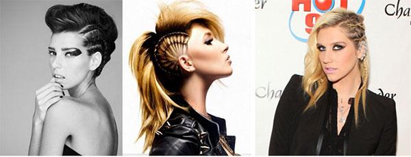 косички набок на средние волосы