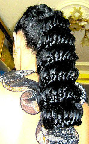 красивое плетение на длинные волосы