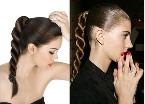 плетение волос жгутики