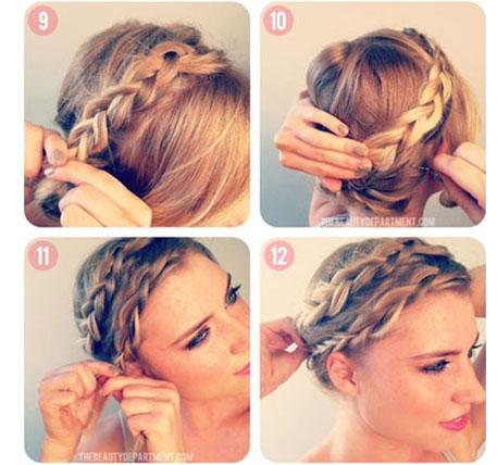 плетение ободка из волос