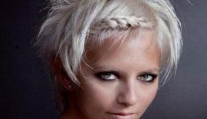 плетение волос с челкой