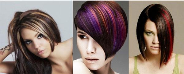 продольное колорирование темных волосы