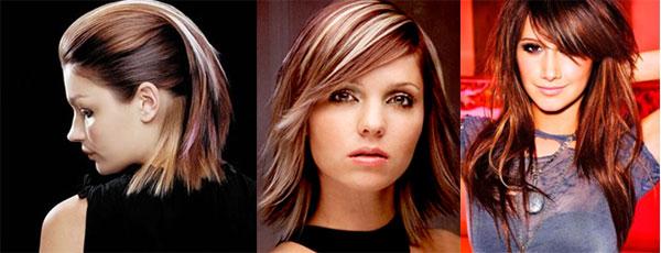 варианты колорирования на темные волосы
