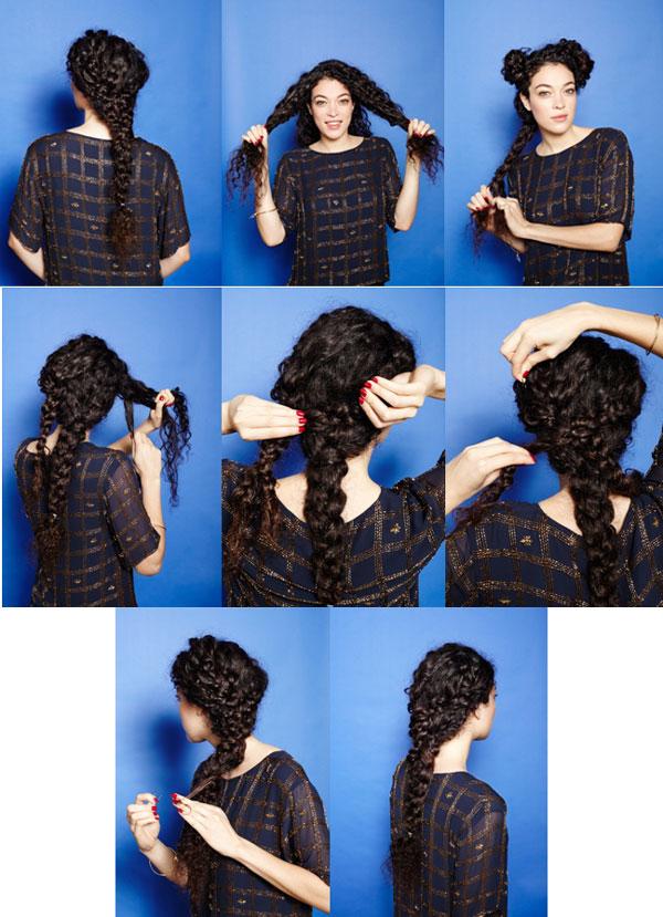 Как сделать волнистые волосы с помощью косичек 737
