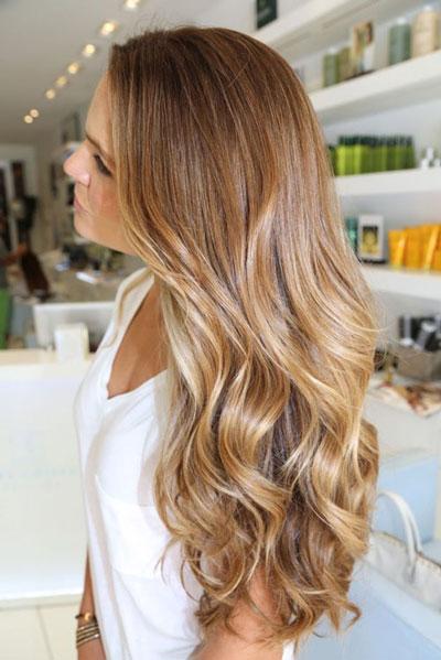 красивое обмре светлых волос
