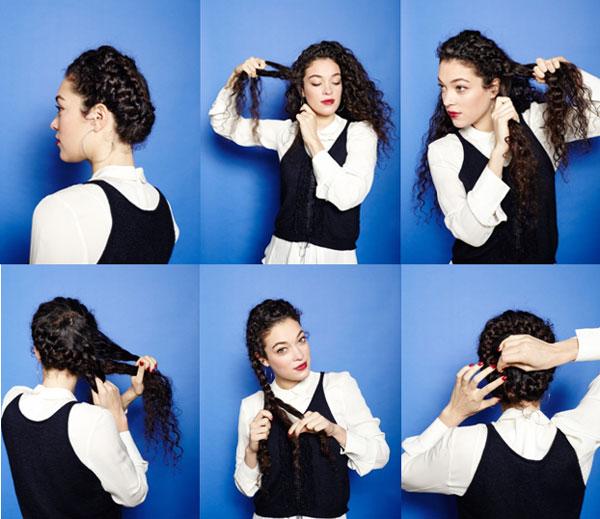 повседневные прически для волнистых волос