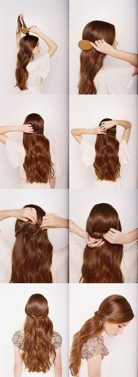прическа масльвинка на длинные волосы
