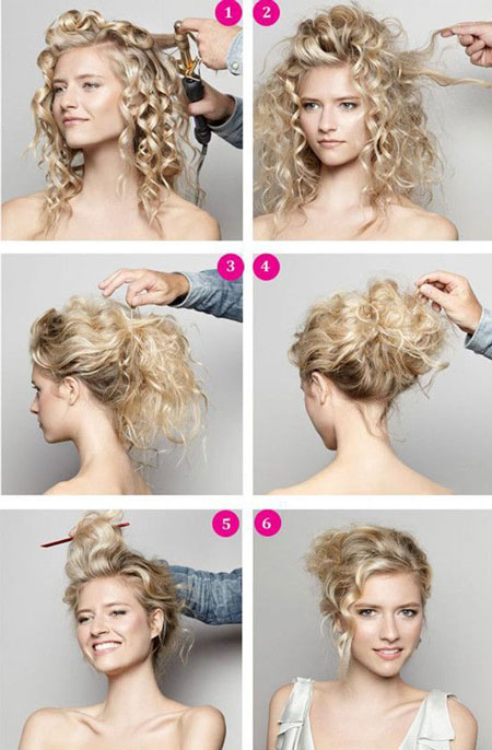 свадебная прическа для кудрявых волос