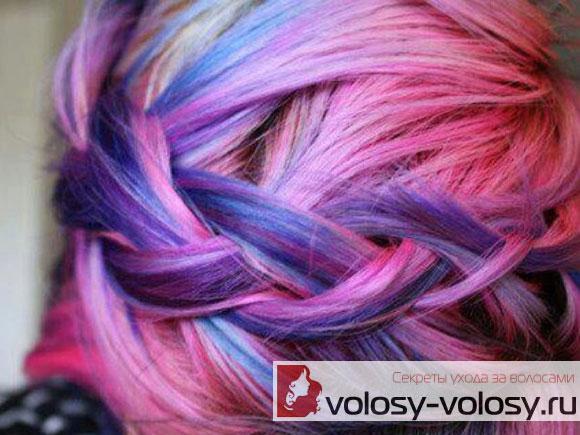 Отделите окрашиваемый локон Мелки для временной окраски волос Hai