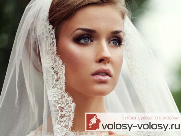 Свадебные прически с фатой - 100 красивых вариантов 39
