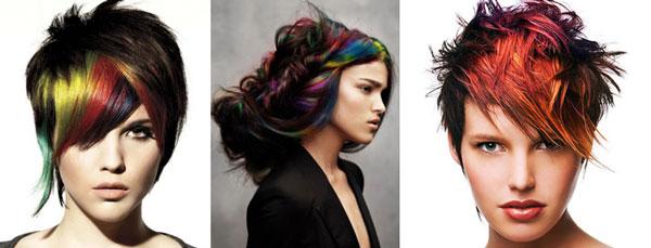 варианты креативного окрашивания волос