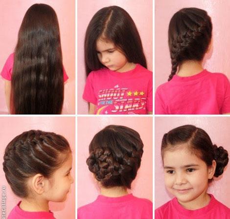 детские прически с косами 2