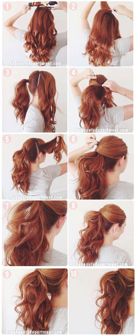 хвостик с волнистыми волосами