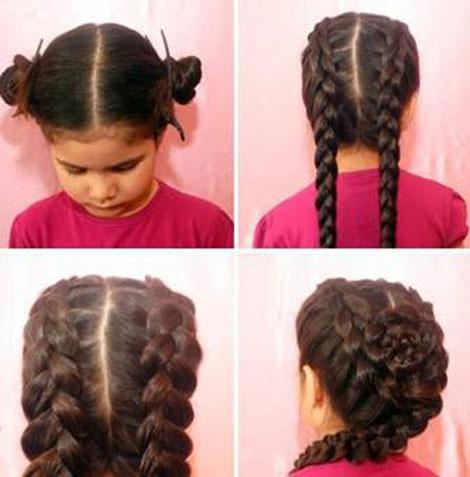 Косы на длинные детские волосы