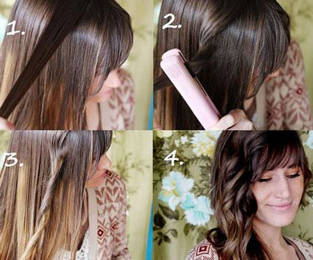 делаем кудри на средние волосы